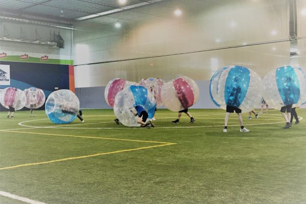On s'amuse au Bubble Soccer!