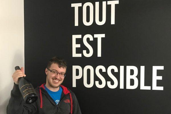 Stage réussi et emploi de programmeur confirmé pour Guillaume Piché!