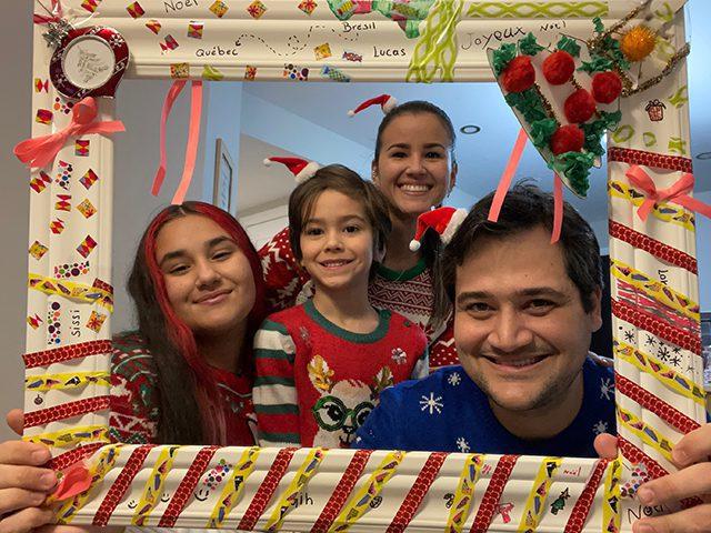Lucas et sa famille